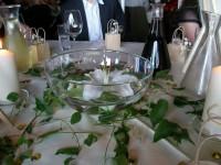 Foto einer Hochzeitstischdeko