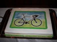 Torte mit Fahrrad